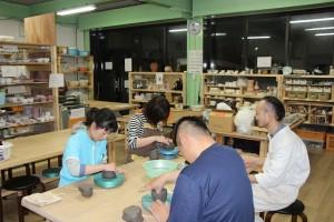 庭瀬陶芸工房 陶芸教室の初級教室(2015/04/07)
